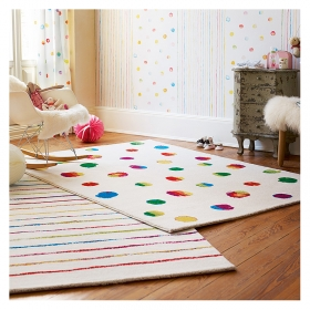 tapis funny dots blanc esprit home