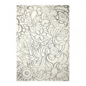 tapis motif floral madison blanc esprit home