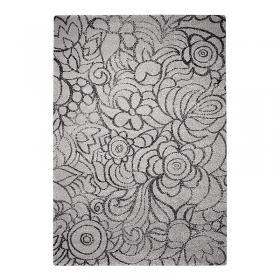 tapis madison motif floral esprit home gris