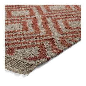 tapis simple rouge esprit home