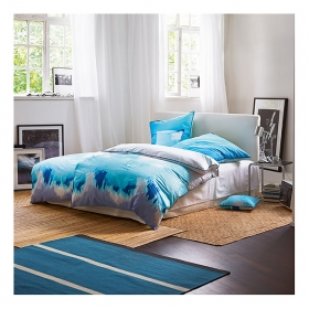 tapis simple stripe bleu esprit home