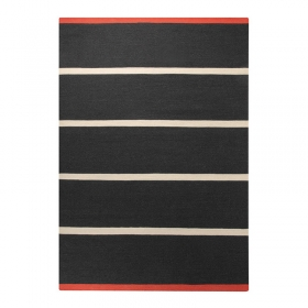 tapis simple stripe esprit home noir