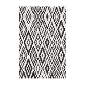 tapis fresh kelim esprit home noir et blanc