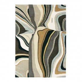tapis estella curve gris brink & campman pure laine