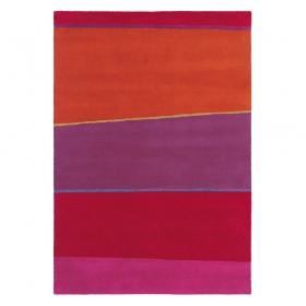 tapis estella horizon rouge brink & campman pure laine vierge
