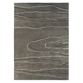 tapis estella ripple gris brink & campman pure laine