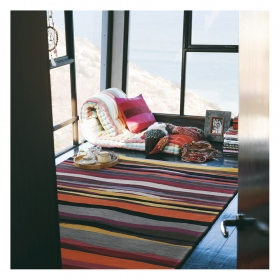 tapis estella summer rouge brink & campman pure laine