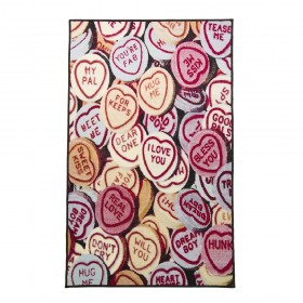 tapis flair rugs hearts multicolore