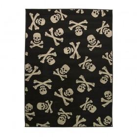 tapis flair rugs cross bones noir