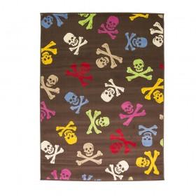 tapis flair rugs cross bones multicolore