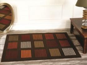 tapis flair rugs 5861 marron orange