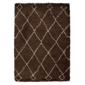 tapis shaggy marron zamba flair rugs