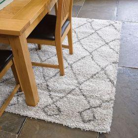 tapis shaggy crème zamba flair rugs