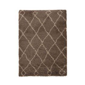 tapis longues mèches gris zamba flair rugs