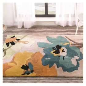 tapis flair rugs bloom bleu