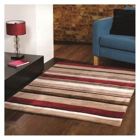 tapis flair rugs broad stripe rouge