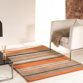 tapis flair rugs broad stripe orange
