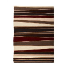 tapis rayé rouge streak flair rugs