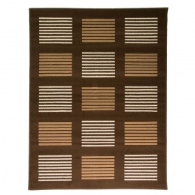 tapis flair rugs 5861 marron - Tapis Marron