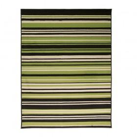 tapis flair rugs canterbury noir et vert