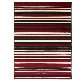 tapis flair rugs canterbury noir et rouge