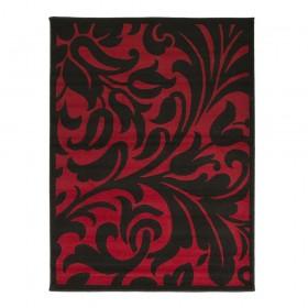tapis flair rugs warwick noir et rouge