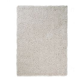 tapis longues mèches tufté main crème truffle flair rugs