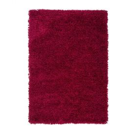 tapis shaggy tufté main rouge truffle flair rugs