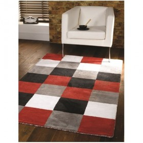tapis flair rugs glade check rouge
