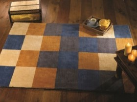 tapis moutarde glade check flair rugs