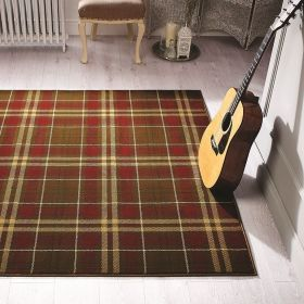 tapis marron et rouge moderne kilry flair rugs