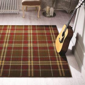 tapis marron et rouge moderne kilry flair rugs