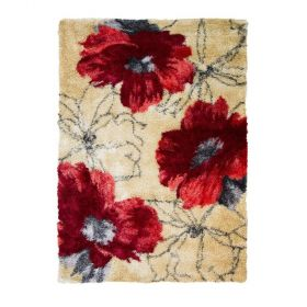 tapis shaggy rouge lulu flair rugs