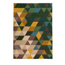 tapis moderne prism vert - flair rugs