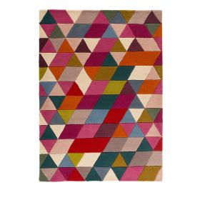 tapis moderne rose prism flair rugs