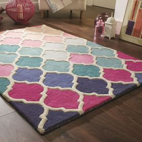 tapis bleu et rose rosella flair rugs