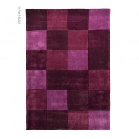 tapis flair rugs squared aubergine