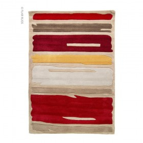 tapis flair rugs paint strock orange
