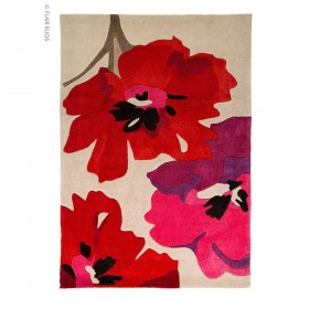 tapis flair rugs bloom rouge