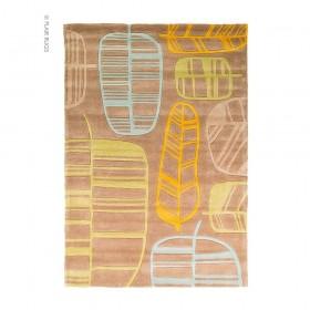 tapis flair rugs fossil leaf vert