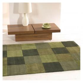 tapis flair rugs squared vert