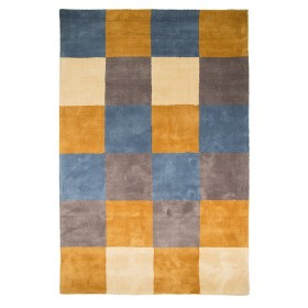 tapis flair rugs glade check jaune