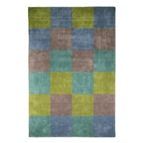 tapis flair rugs glade check vert