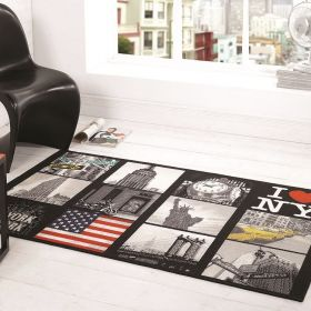 tapis de chambre noir big apple flair rugs