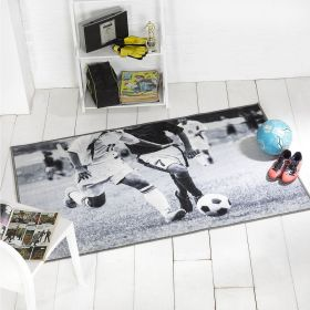tapis gris football match flair rugs