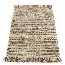 tapis laine tissé main taupe maya flair rugs