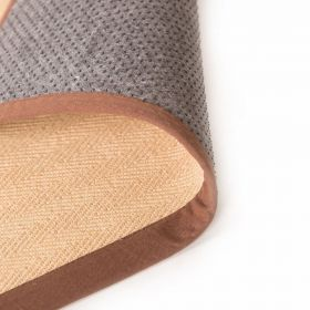 tapis antidérapant naturel et marron herringbone flair rugs