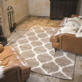 tapis longues mèches beige moroccan flair rugs