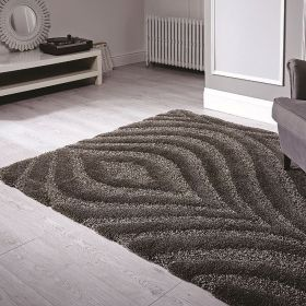 tapis shaggy gris jet flair rugs