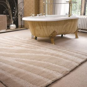tapis shaggy ivoire onyx flair rugs